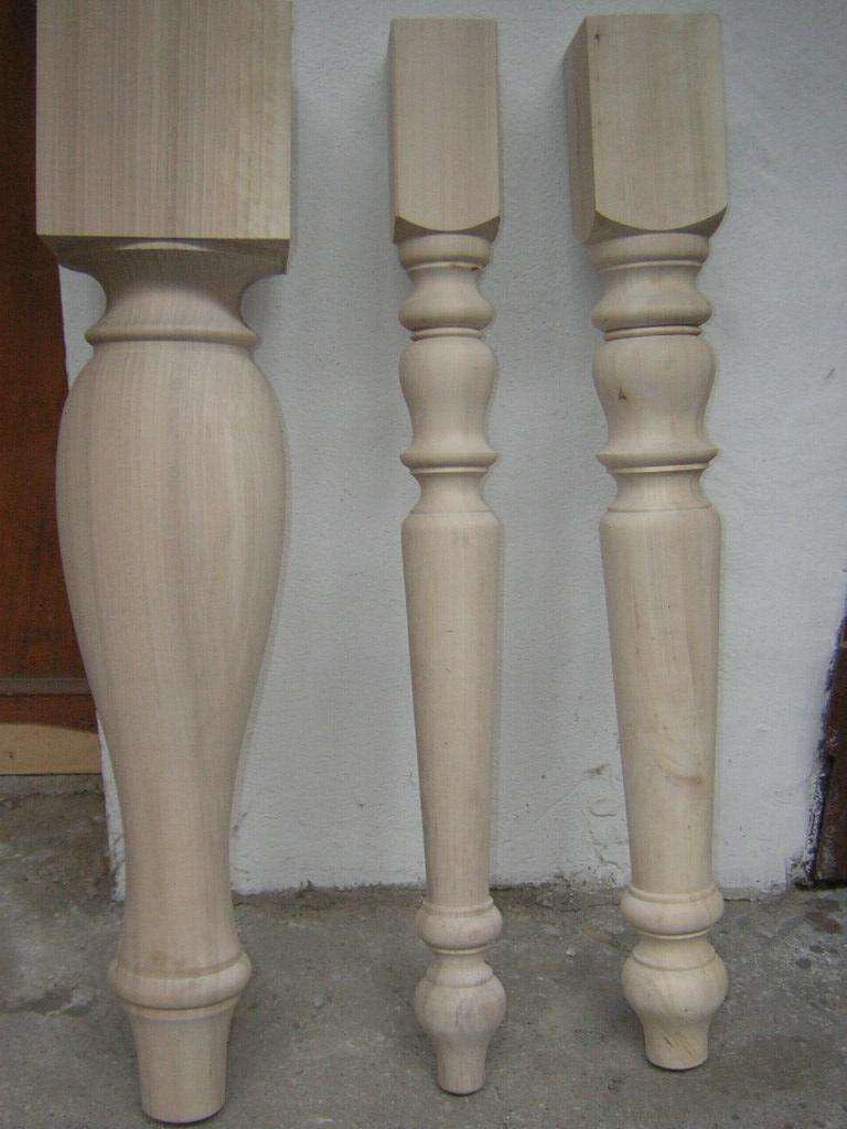 Gambe in legno tornite commercio legname pregiato verona for Gambe di legno