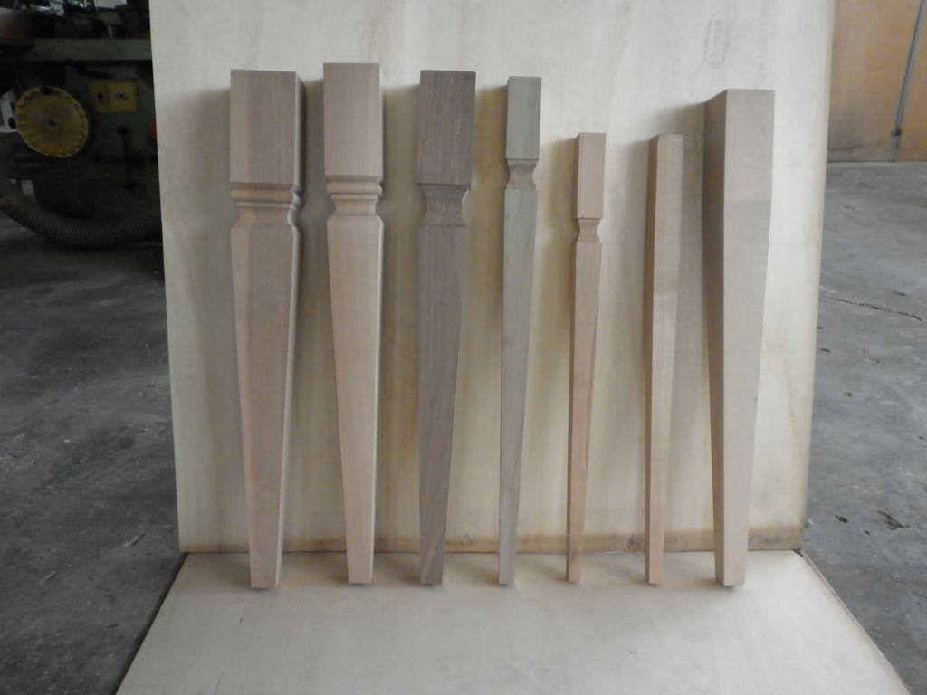 Gambe a spillo commercio legname pregiato verona for Gambe di legno
