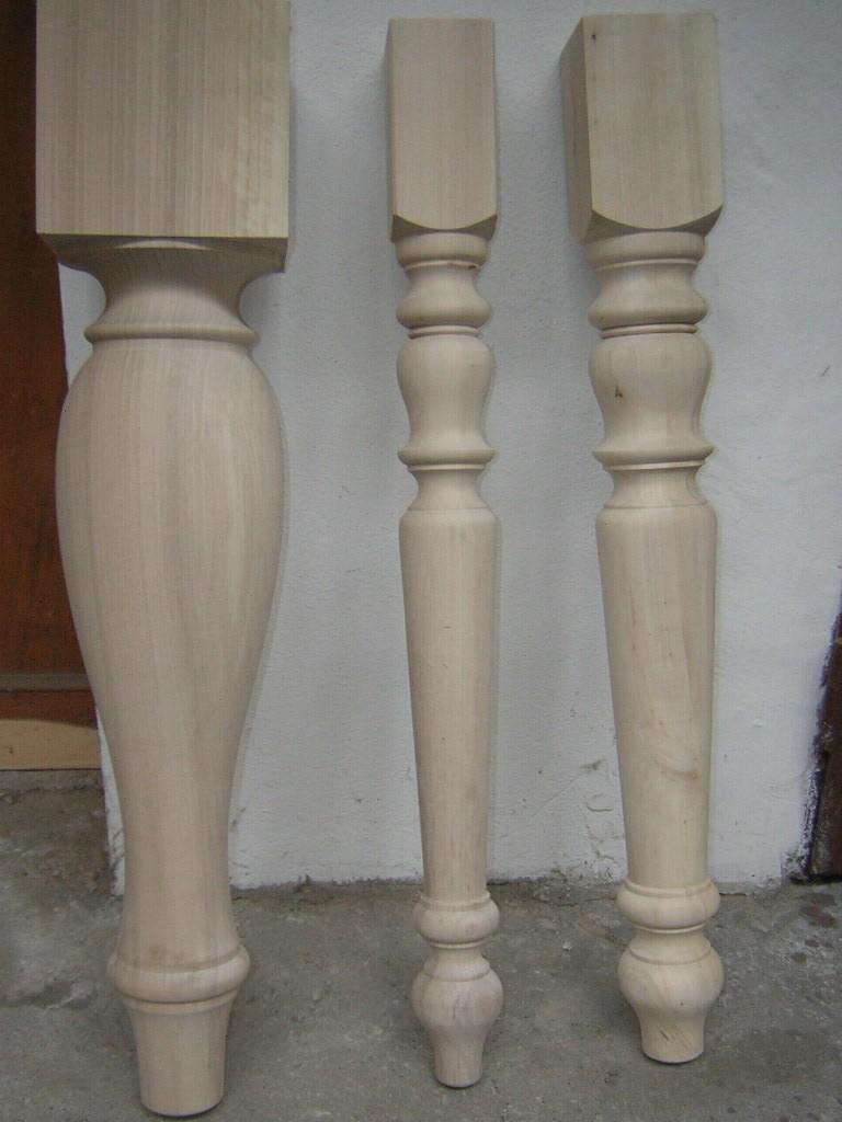 Gambe in legno tornite commercio legname pregiato verona semilavorati in legno segheria - Piedi per tavolo in legno ...